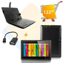 Tablette QDS Q7L Family + cable OTG + Pochette