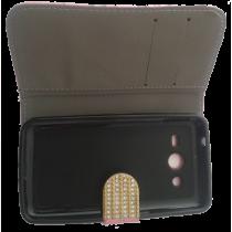 Cache Smartphone avec Diamant et Silicone - Rose