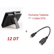 Pack Pochette Tablette + Cable OTG pour Tablette - 7""